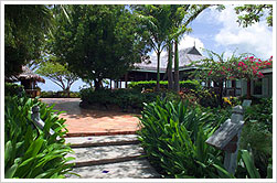 The grounds at Cocobay Resort