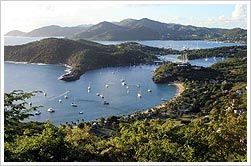 Antigua's natural harbours